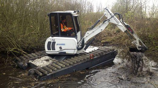 Escavatore-galleggiante